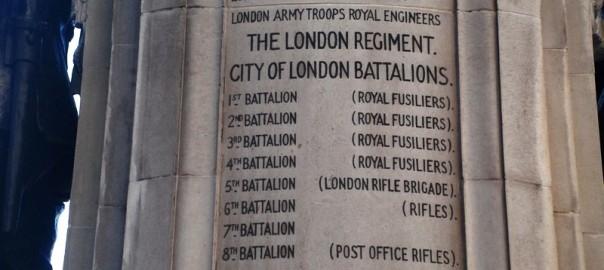 The London Regiment City of London Battlions Cornhill WW1 Memorial 3rd Btn for Arthur Walter Tearle 1881
