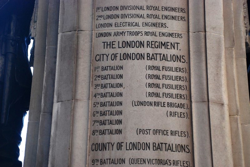 The London Regiment City of London Battlions Cornhill WW1 Memorial 3rd Btn for Arthur Walter Tearle 1881