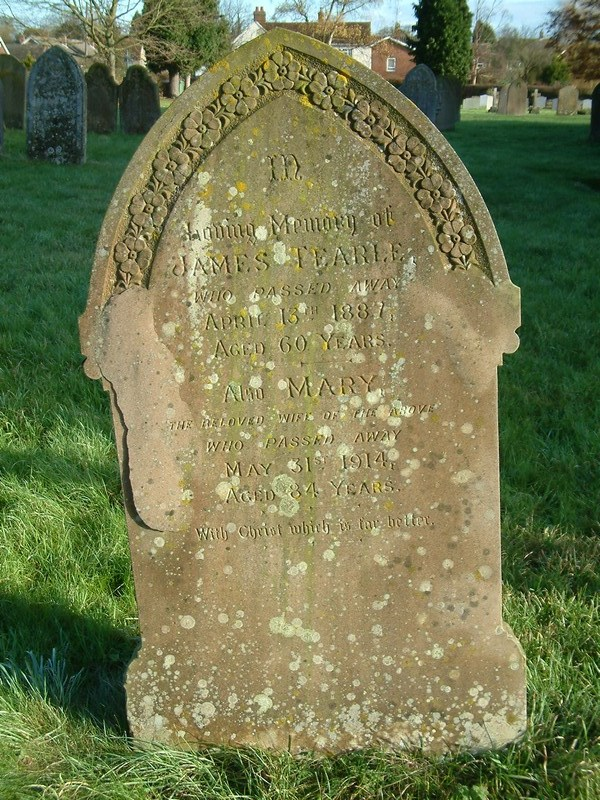 James Tearle and Mary nee Andrews headstone Stanbridge
