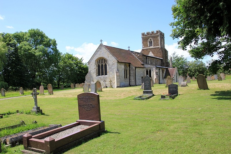 Stanbridge Church from the graveyard