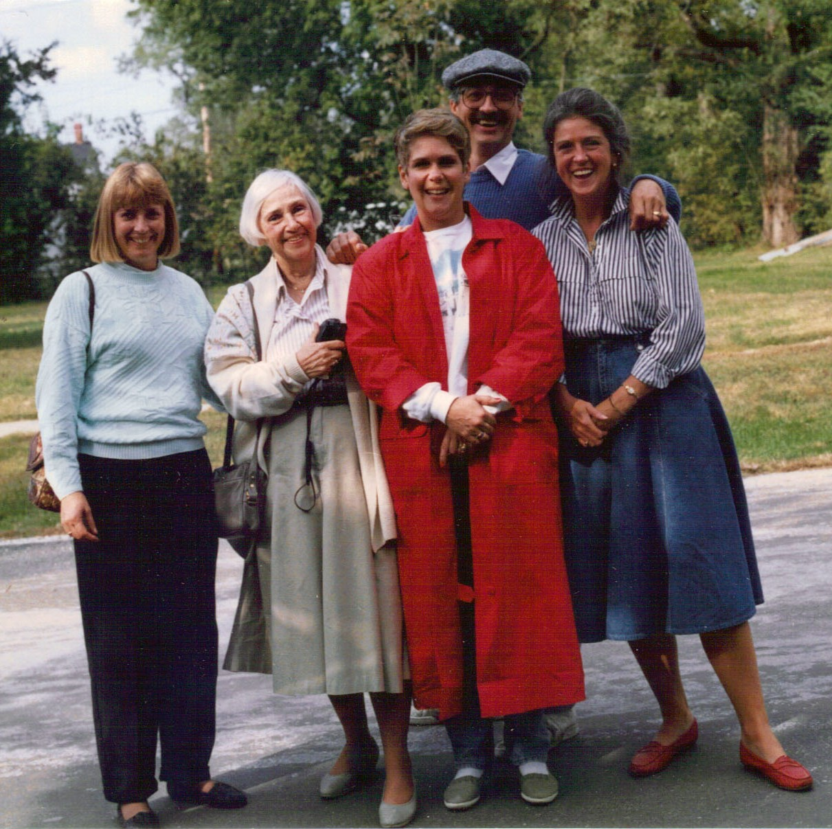 Boonville was revisited in 1990 by my aunt Phoebe, (second from left) when she took my brother Steve, his wife Kay (at left) and her daughters Kristin (in front) and Laura (at right) on a tour of her old home town.