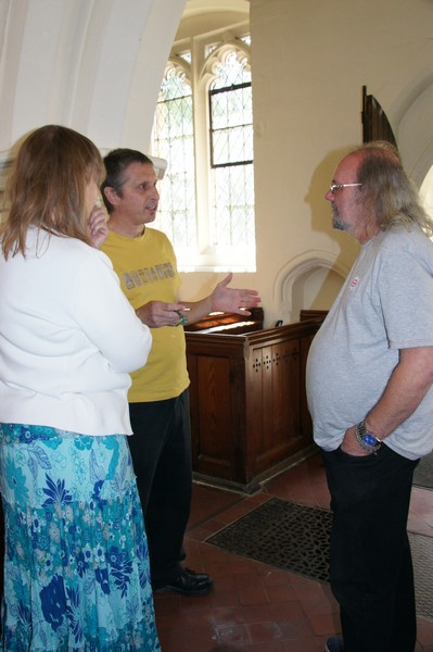 Richard Flecknell and Sue tell their story to Richard.