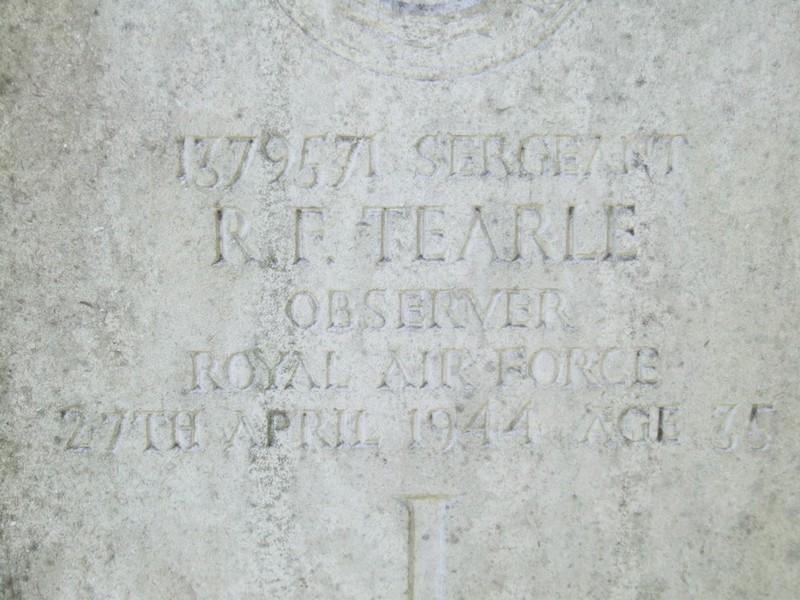 Sgt RF Tearle Watford North Cemetery