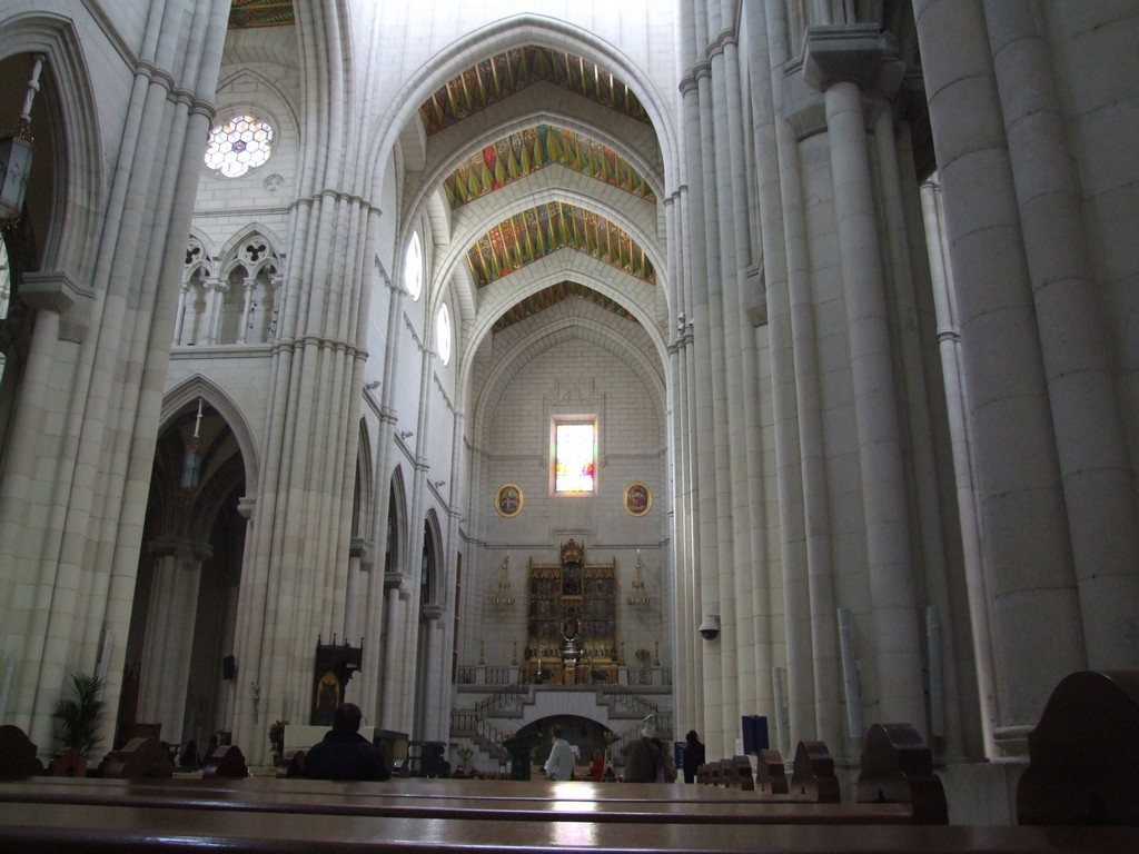 Interior of La Almudena Cathedral.