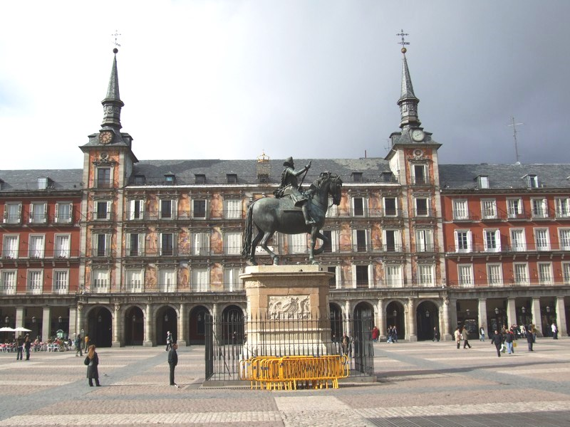 Casa de la Panaderia in Plaza Mayor with Philip III
