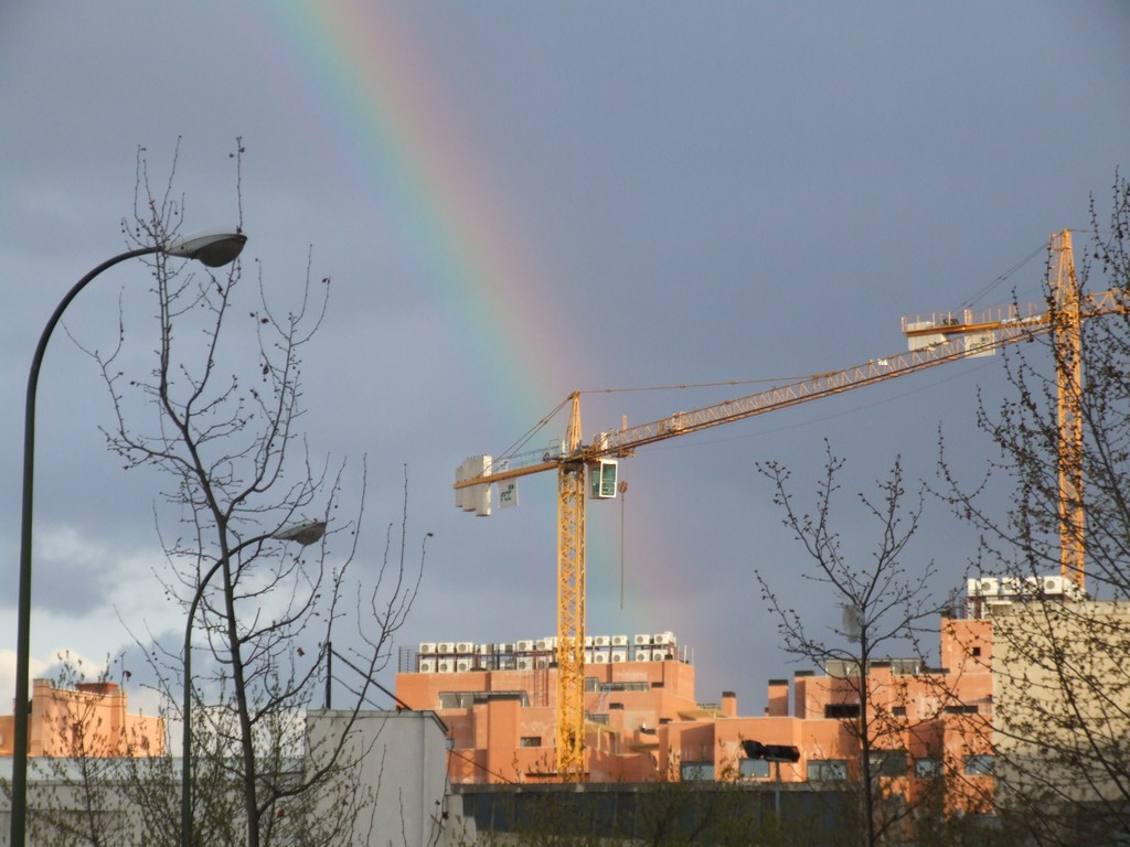 Rainbow over Madrid