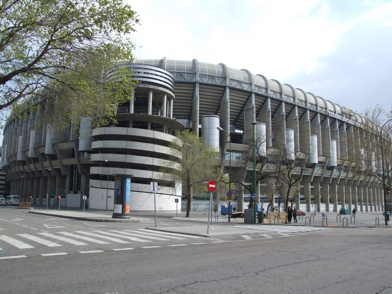 Bernabeu Stadium on Passeo de Castellana
