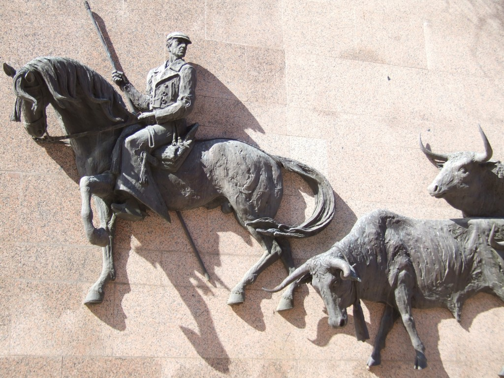 Herding the bulls lead cowboy detail Ventas