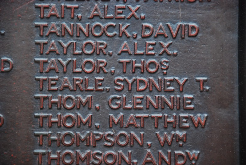 Sydney T Tearle on Glasgow Central Station Great War memorial