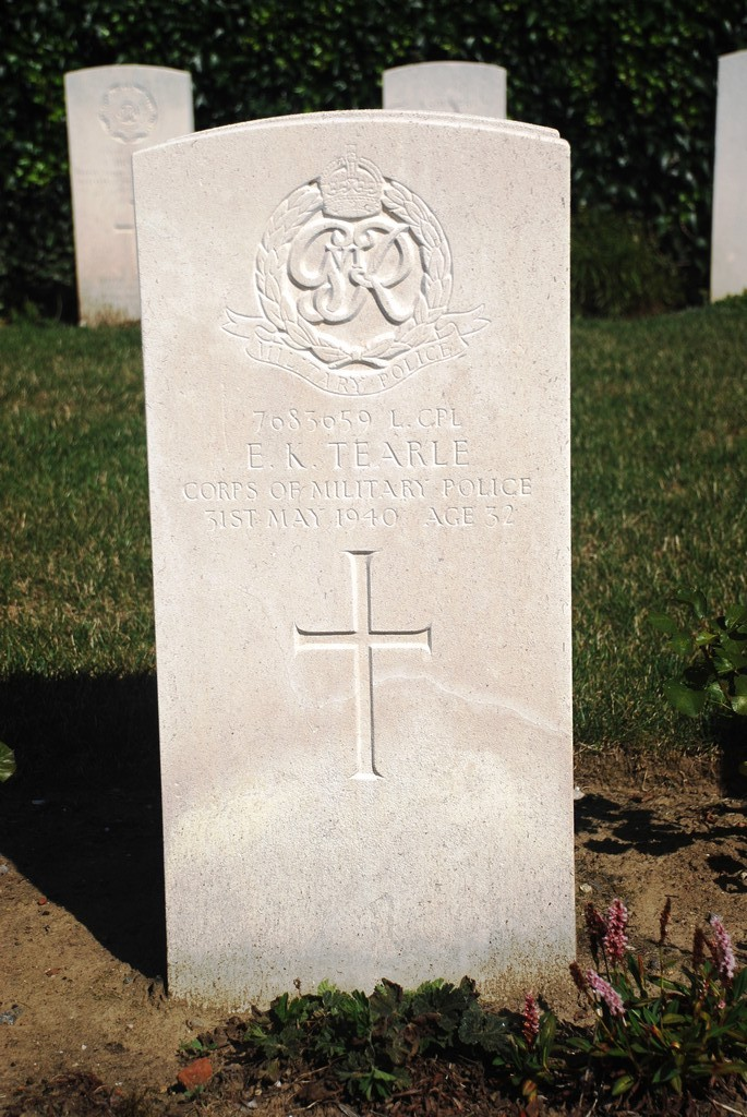 Edward Kefford William Tearle 7683659 De Panne Communal Cem