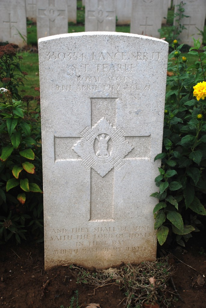 Lance Sergeant S J Tearle Nine Elms Cemetery