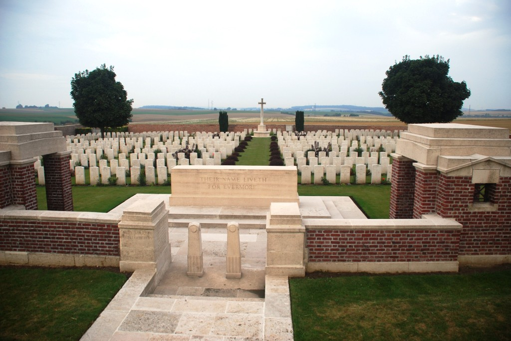 The gate Sailly Saillisel British Cemetery