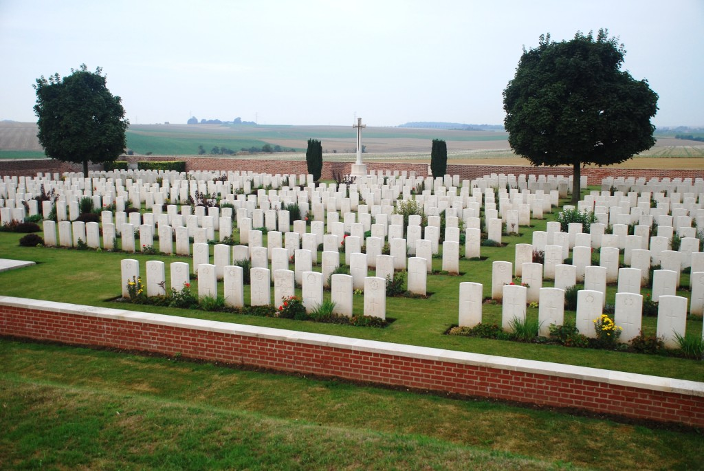 Massed graves Sailly-Saillisel British Cemetery