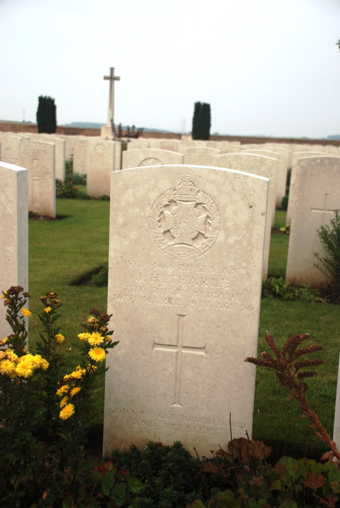 James Harry Tearle Sailly Saillisel British Cemetery
