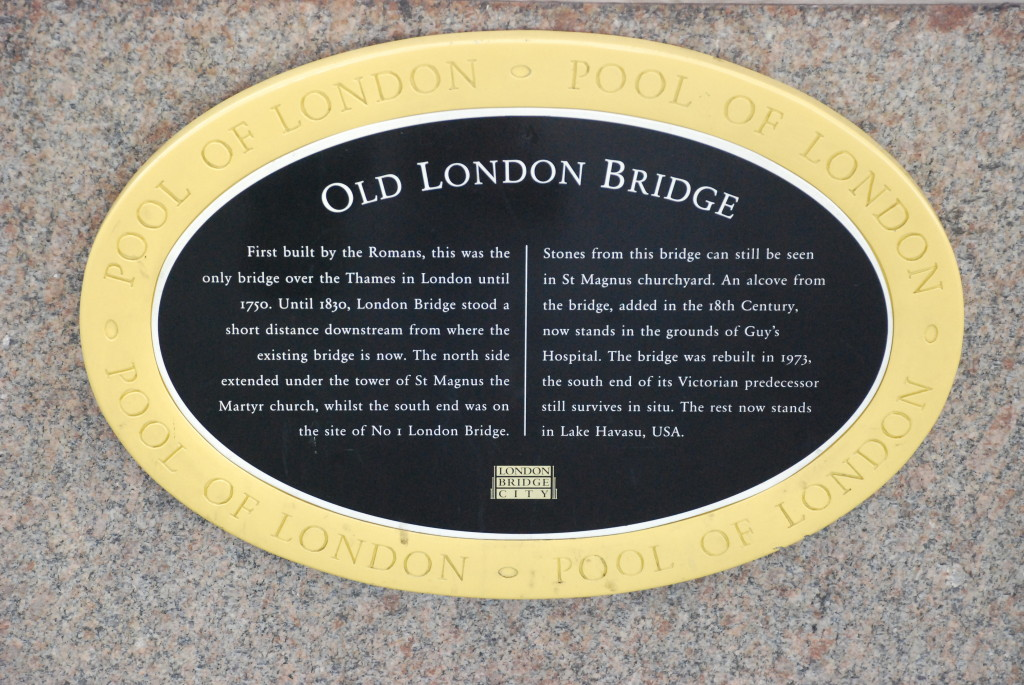 Story of the Old (1831) London Bridge.
