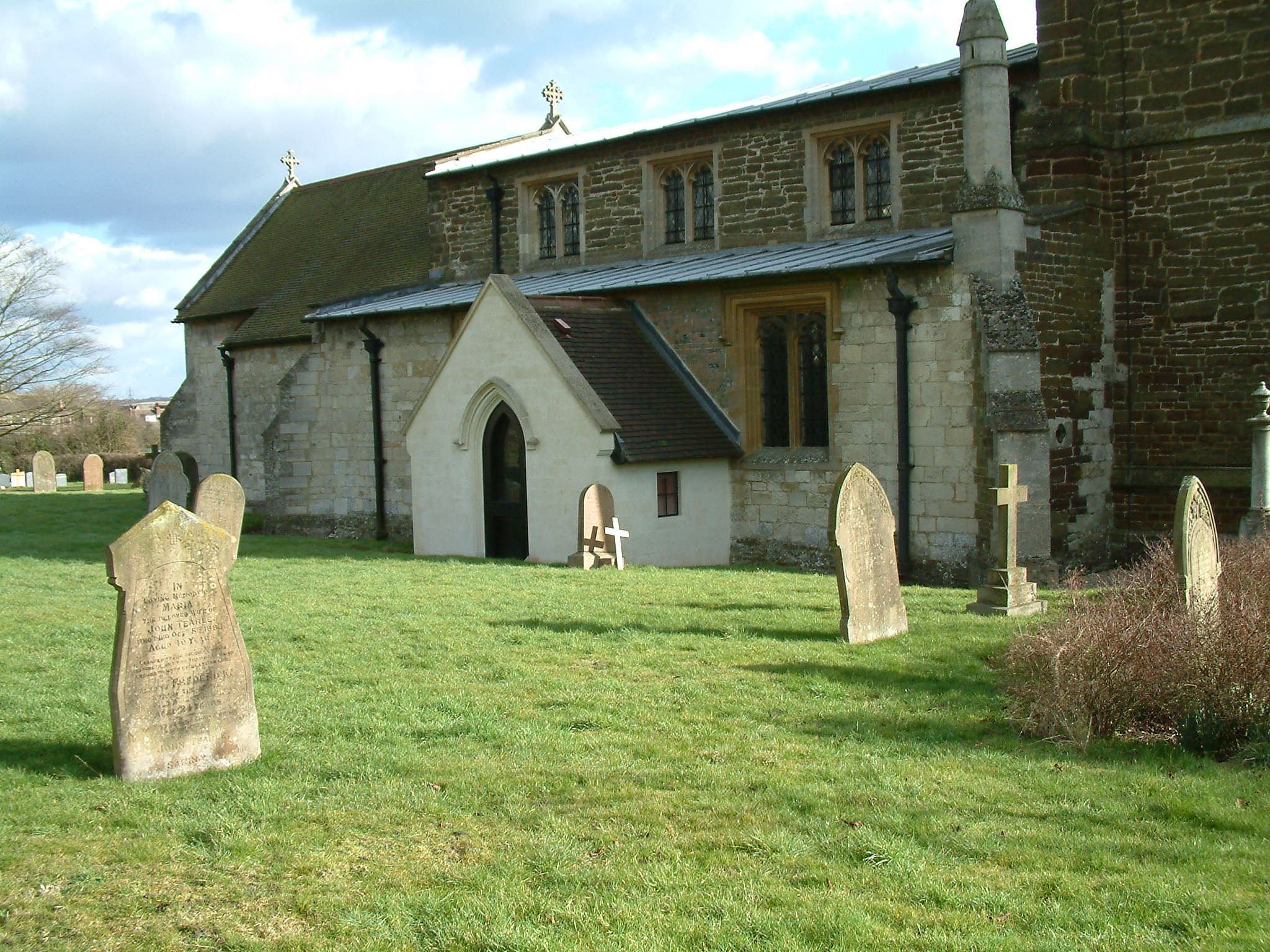 The memorials to John 1840 and James 1827 are close together.