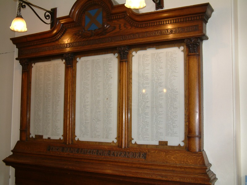 WW1 memorial St Albans Town Hall