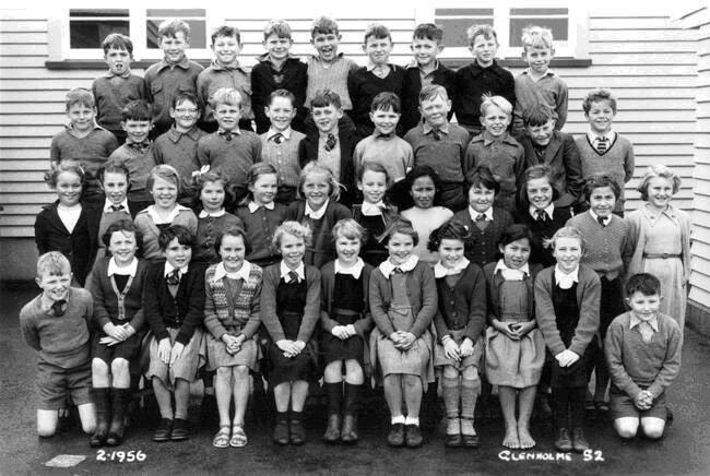 School Days. Glenholme Primary School, Rotorua. I'm 5th from the right, second row down. Nice school. The principal's name was Mr Bassett. My friends and I spent an awful lot of time on our knees playing marbles in chalk circles on the asphalt, while other boys played rugby or soccer on the school fields.