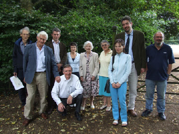 Front: John and Ewart Tearle and Ingrid Taylor. Behind: David Ashley, Sam Tearle, Barbara Ashley, Jennie Pugh and Barbara Tearle, James and Richard Tearle.
