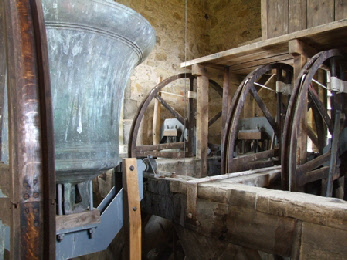 While we are there, here are the bells and mechanism he might have been repairing.