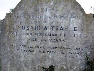 Susanna Tearle, 1827 Dagnall
