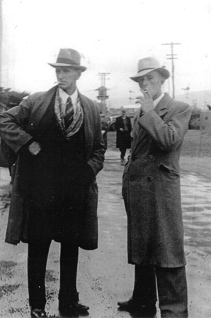 James Ewart Dawson, Tia's father (left) with Maurice, her brother, at the Wellington races. James was known as Lofty by all who knew him. The Dawsons were from Lisburn and Belfast.