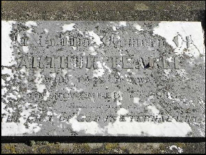 Headstone Arthur b12 Dec 1874 in Wing