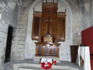 Roll of Honour inside Dunstable Priory Church.
