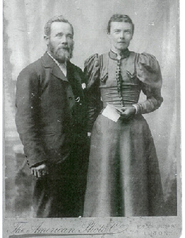 Levi and Sarah, my great-grandparents