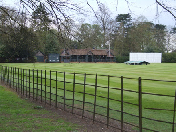 Cricket ground with fence built by Levi