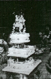 Tia and Frank's wedding cake