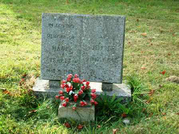 The headstone for Jeffrey, Amos' first son and his wife, Maud nee Cutler