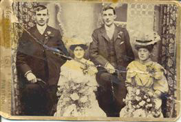 The wedding photograph is of Mary Ann Tearle (the youngest daughter daughter in the photo above) to Henry Gillgrass Parker (couple on the left). This photo was also sent to me by Hazel of Preston