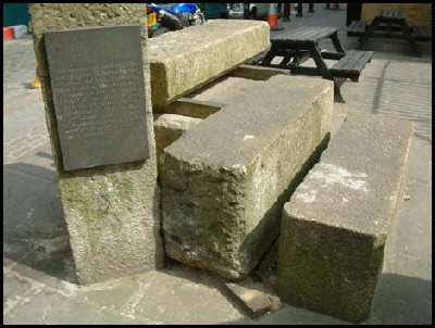 The last surviving stones of the 1831 London Bridge.