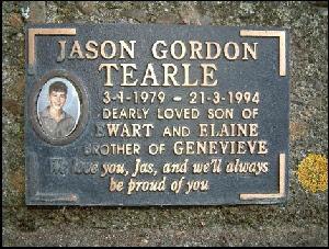 Gravestone, Jason Tearle, Hamilton
