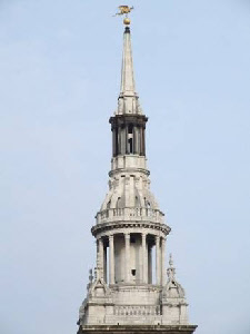 The spire of St Mary le Bow