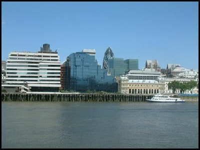 View across the Thames to the City of London.