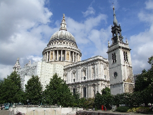 St Paul's Cathedral from Canon St