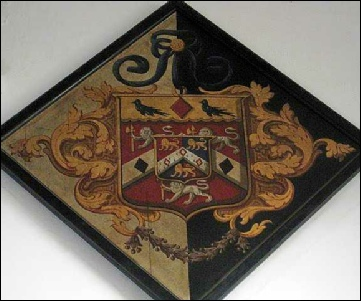 Hatchment of the arms of Elizabeth Cooper Cooper