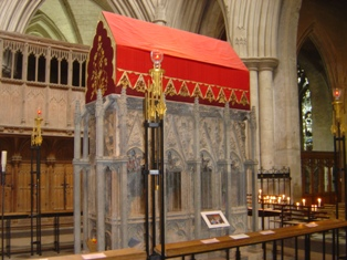 St Albans shrine in St Albans Cathedral