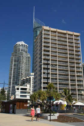 Highrises on the coast road, Surfers Paradise