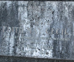 Detail of Edith's headstone