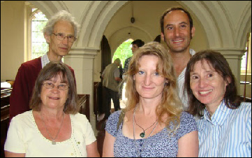 Lis and Eleanor Minns with Ingrid Taylor, David Ashley and Greg Minns.