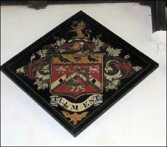 Hatchment of the arms of William Dodge Cooper Cooper