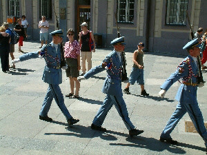 Changing the guard, Prague Castle