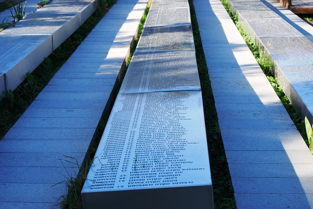 Turkish names at the Memorial of the 57th Infantry.