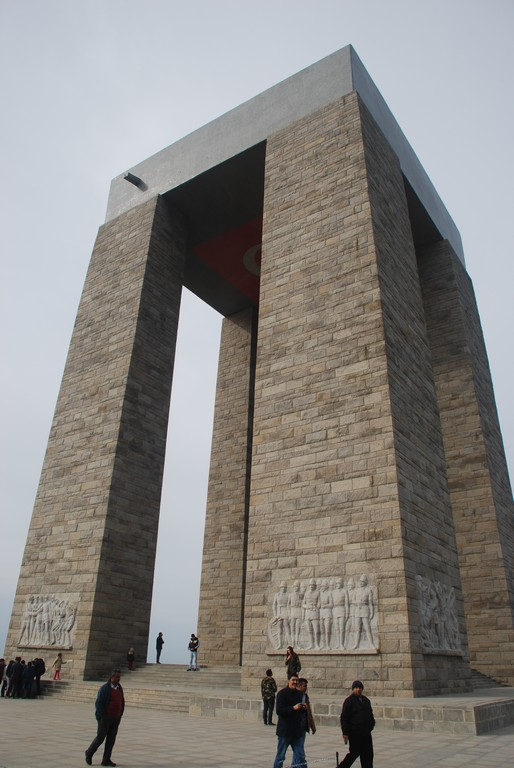 Turkish National Monument to the Battle of Canakkale.