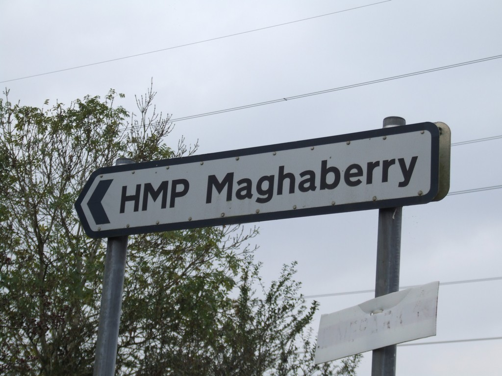 Sign to Maghaberry Prison