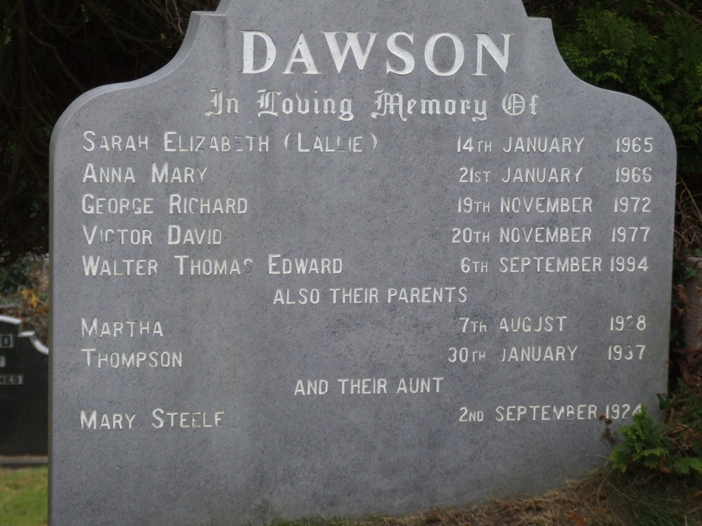 Thompson Dawson headstone.