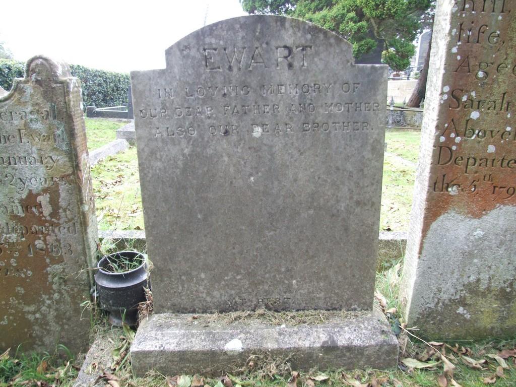 Ewart headstone